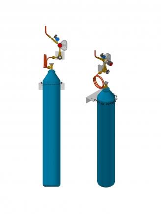 Asetilen tesisatı, Helyum tesisatı, argon Tesisatı, Basınç kontrol paneli
